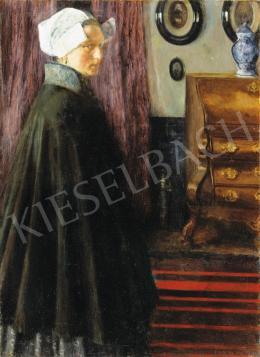 Perlmutter Izsák - Fiatal holland lány szobában, 1900