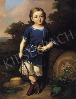 Barabás Miklós - Kisfiú színes labdával (Erdélyi Béla ifjúkori portréja)