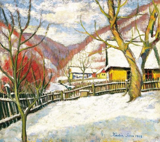 Kádár Géza - Tél Nagybányán, 1936 | 37. Aukció aukció / 164 tétel