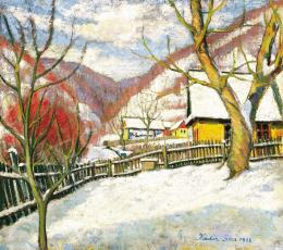 Kádár Géza - Tél Nagybányán, 1936