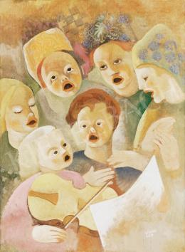 Kádár, Béla - Singing children