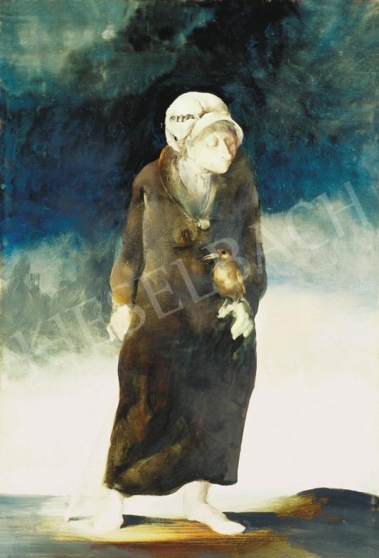Szász Endre - Hölgy madárral, 1977 | 37. Aukció aukció / 190 tétel