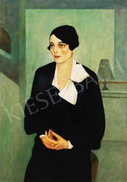 Ismeretlen festő - Hölgy fehér gallérral