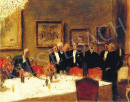 Pólya Tibor - A Fészek tagság (balról jobbra: Csók István, Glatz Oszkár, Fényes Adolf, Falus, Zádor, Kisfaludi Str