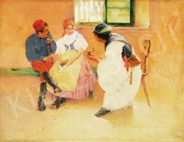 Hollósy, Simon - Between two fires, around 1892