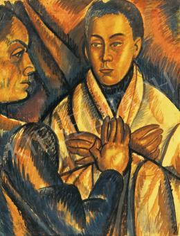 Uitz, Béla - The artist's wife (Double portrait), 1919