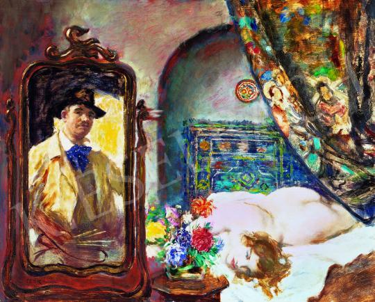 Csók István - Műteremsarok (Festő és modellje) | 38. Aukció aukció / 14 tétel