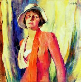 Holesch Dénes - Baba (Holesch Margit) portréja
