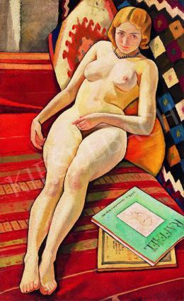 Ismeretlen magyar festő, 1930 körül - Art deco akt