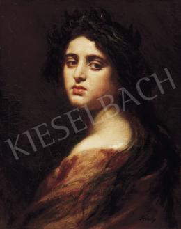 Székely, Bertalan - Girl with Chaplet-Rachel