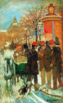 Berkes Antal - Esti fények a Nagykörúton, 1914