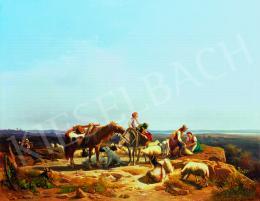 Markó András - Itáliai táj pásztorokkal, 1865