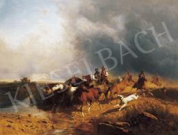 Markó, András - Italian Landscape with Riding Horses