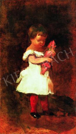 Pállik Béla - Kislány babával