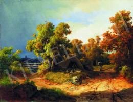 Ifj. Markó Károly - Romantikus táj pásztorral, 1849