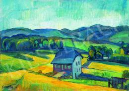 Kmetty János - Dombos táj, 1910-es évek