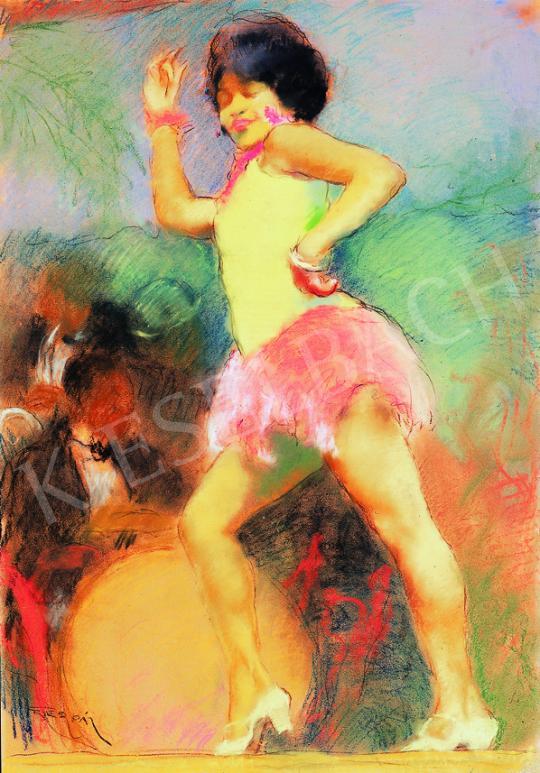 Fried Pál - Mulatt táncosnő, jazz banddel a háttérben   38. Aukció aukció / 85 tétel