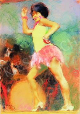Fried Pál - Mulatt táncosnő, jazz banddel a háttérben