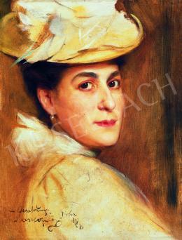 László Fülöp - Kalapos hölgy portréja (Emily Lasar Kern)