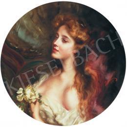 Innocent Ferenc - Fiatal lány rózsákkal, 1907