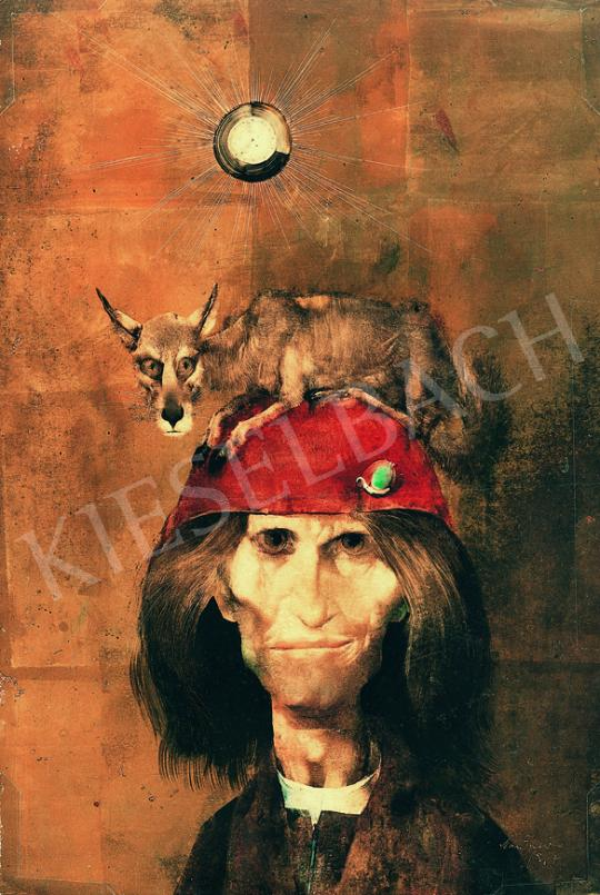 Szász Endre - Piros kalapban farkassal, 1967 | 38. Aukció aukció / 93 tétel
