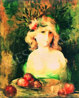 Szász, Endre - Girl with Fruits