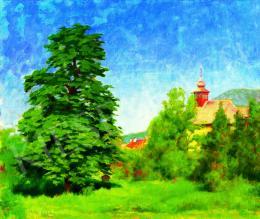 Tagyosi Rátz Péter - Nagybányai táj