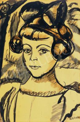 Uitz Béla - Lány, 1918