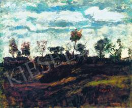 Koszta, József - Landscape with Clouds