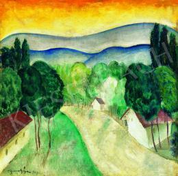 Bene, Géza - Hillside in the Morning Light, 1927