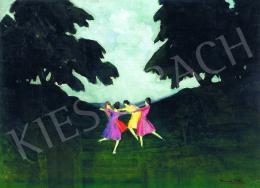 Vaszkó Ödön - Táncoló lányok az erdőben