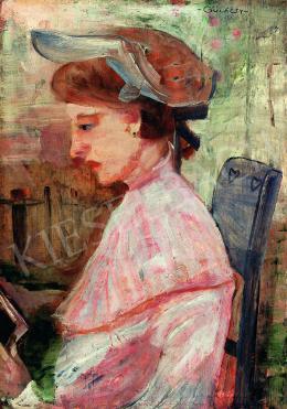 Gulácsy Lajos - Kalapos hölgy