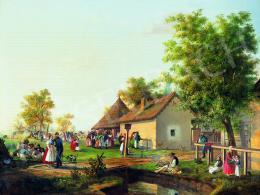 Kiss Bálint - Mulatság a régi Magyarországon, 1853