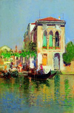 Herrer, Cézár - Gondoliers in Venice