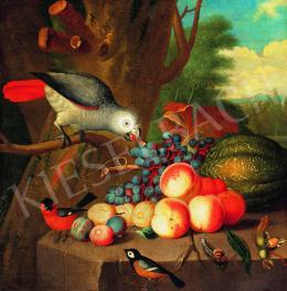 Bogdány Jakab követője - Csendélet papagájjal