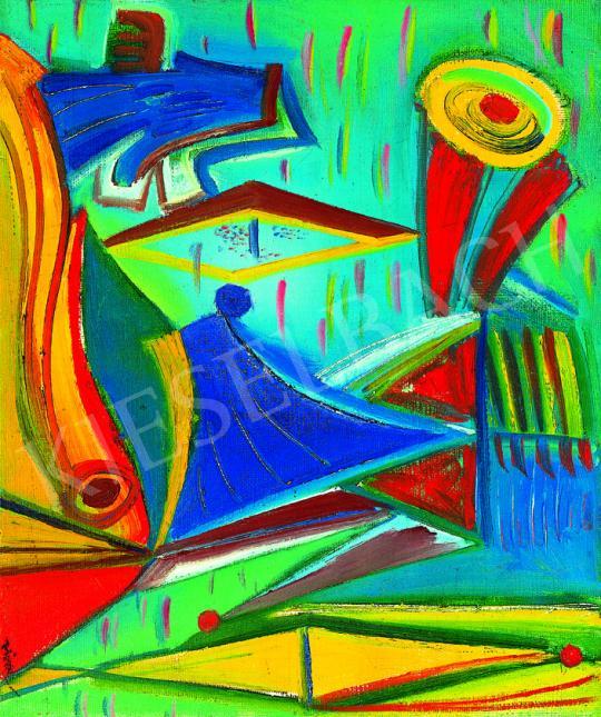 Hincz Gyula - Absztrakt kompozíció   38. Aukció aukció / 201 tétel