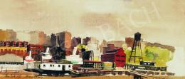 Aba-Novák, Vilmos - Port in New York, 1935