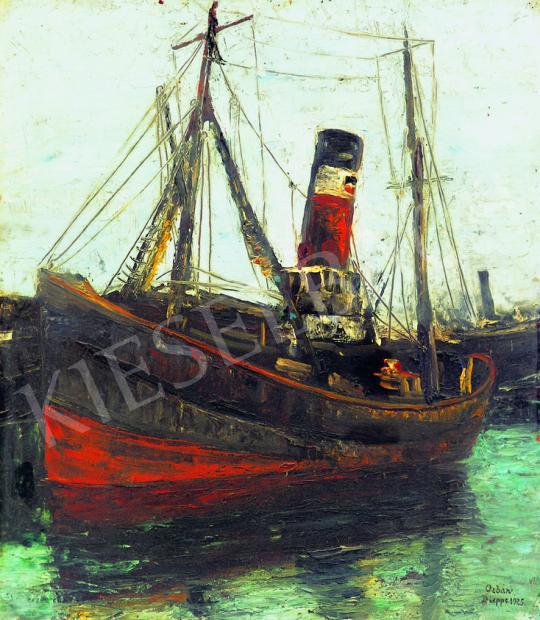 Orbán Dezső - Francia kikötő, 1925   38. Aukció aukció / 220 tétel