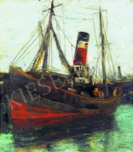 Orbán Dezső - Francia kikötő, 1925