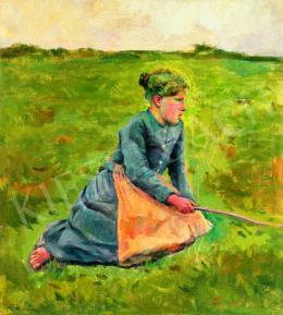 Perlmutter Izsák - Leány a réten, 1895