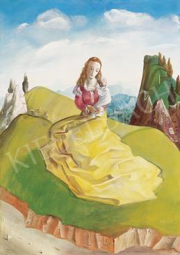 Molnár C. Pál - Madonna itáliai tájban
