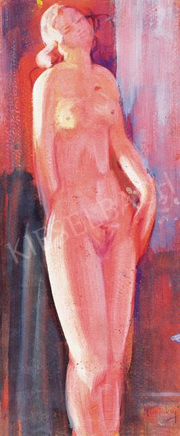Ruzicskay, György - Female Nude in Red Light