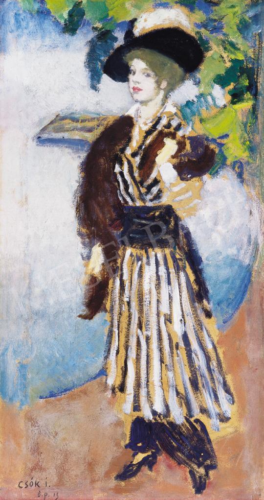 Csók István - Kalapos hölgy, 1914 | 39. Aukció aukció / 13 tétel