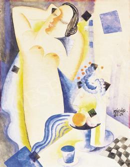 Kádár Béla - Akt gyümölcscsendélettel, 1920-as évek második fele