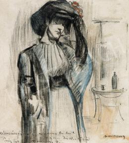 Vaszary János - Kalapos hölgy (1909)
