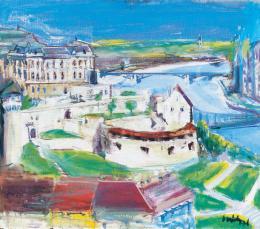Sváby Lajos - Kilátás, háttérben a Budai Várral