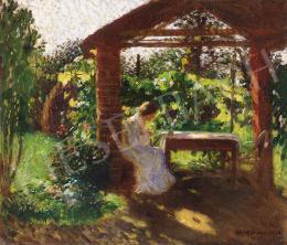 Iványi Grünwald Béla - Lugasban ülő hölgy, 1903