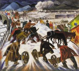 Mágori Varga Béla - Téli forgatag, 1933