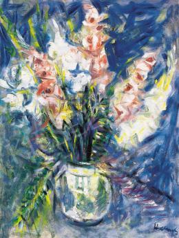Halápy János - Virágos csendélet