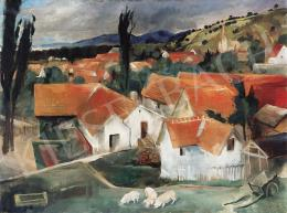 Szőnyi István - Zebegényi háztetők (Dunakanyar) (1930)